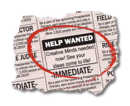 Image result for help wanted newspaper